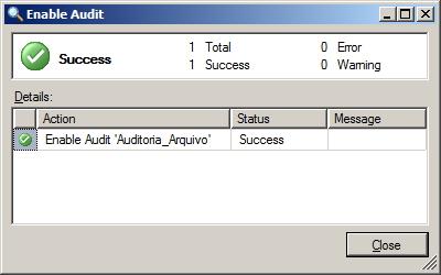 SQL Server - Enable Audit 2