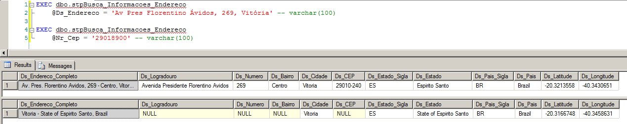 SQL Server - Google Maps API Integration Search Postcode Address