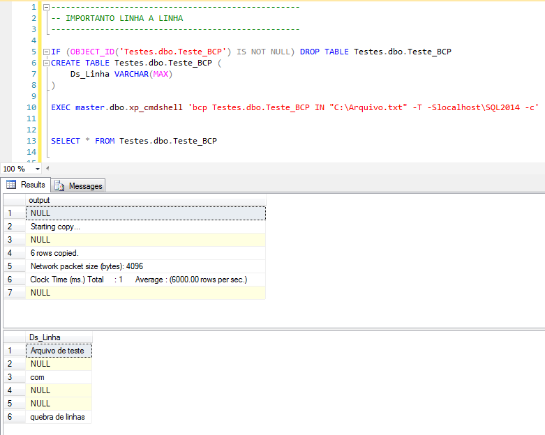 SQL Server - How to import text files with BCP