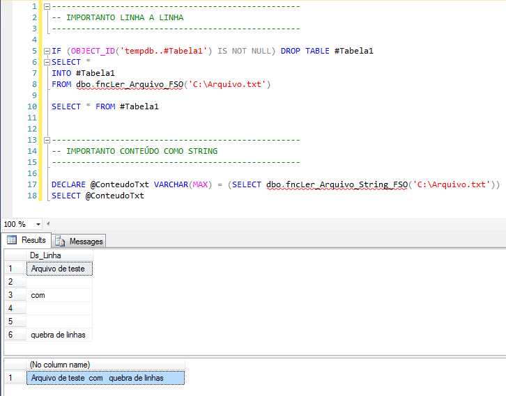 SQL Server - How to import text files with OLE Automation