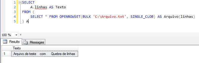 SQL Server - Import text txt file openrowset bulk