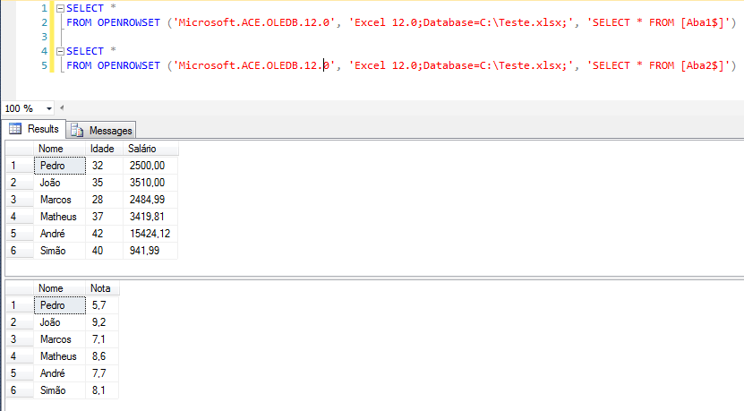 SQL Server - How to import data from Excel datasheet to database - Import