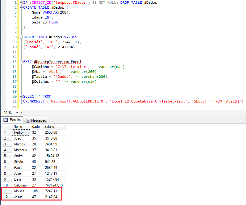 SQL Server - How to insert export data from database to Excel spreadsheet4